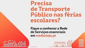 Rede de serviços essenciais de transporte no Médio Tejo para a época de férias escolares